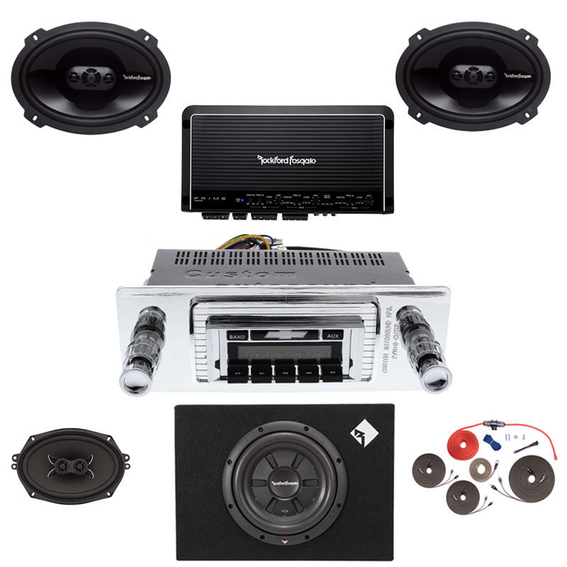 1947-1953 Chevy Pickup Truck Rockford Fosgate 5 Channel Stereo Kit with Subwoofer
