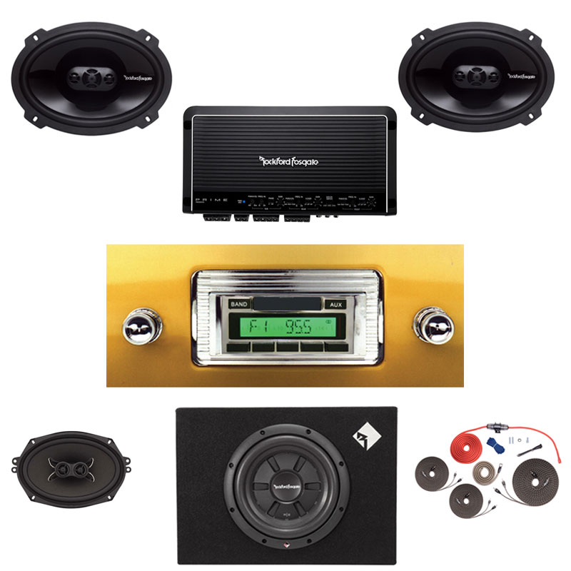 1947-1953 GMC Pickup Truck Rockford Fosgate 5 Channel Stereo Kit with Subwoofer