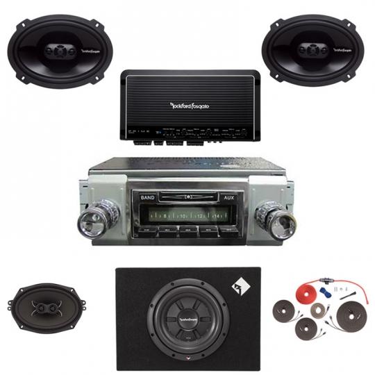 1949-1967 VW Bus Rockford Fosgate Premium Stereo Kit