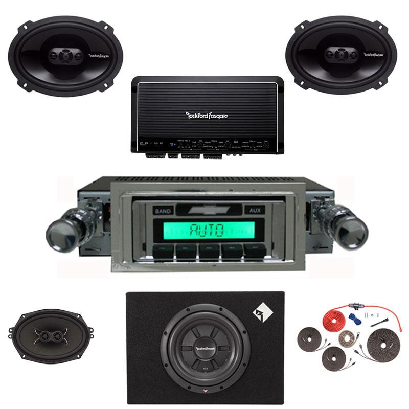 1953-1954 Chevy Radio Rockford Fosgate Premium Stereo Kit