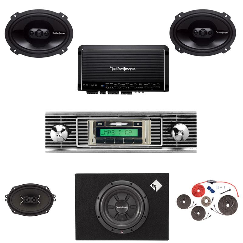 1956 Chevy Rockford Fosgate Premium Stereo Kit