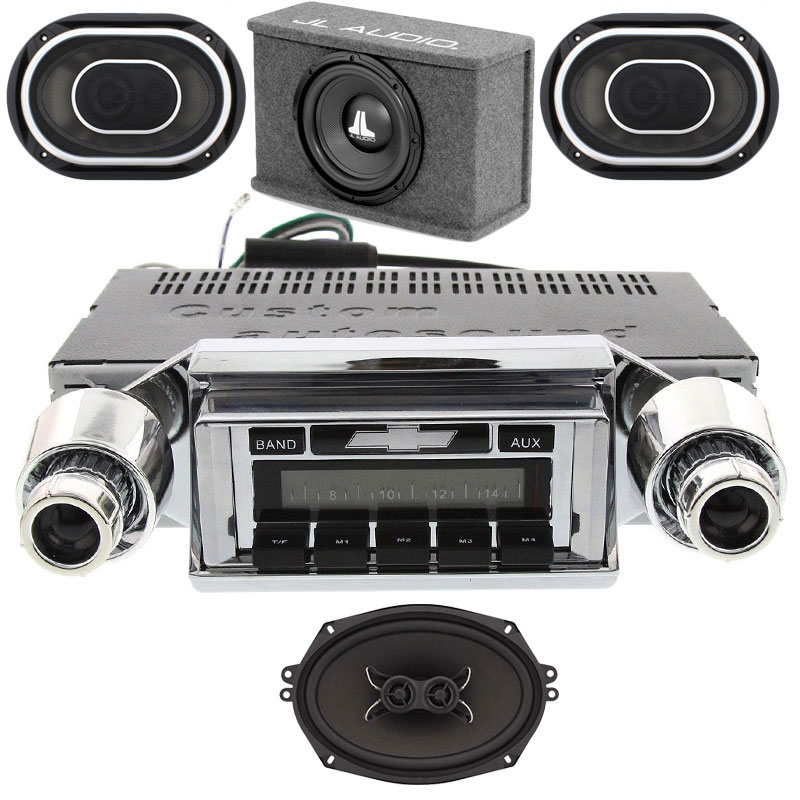 JL Audio 1957 Chevy Radio + Stereo Package with Dash Speaker