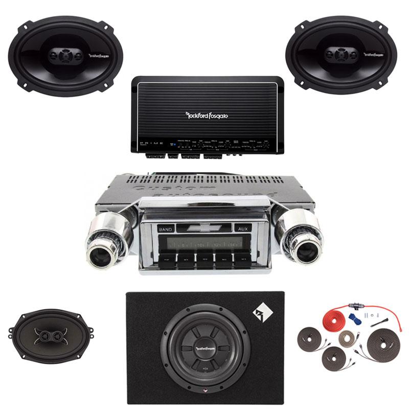 1957 Chevy Rockford Fosgate Premium Stereo Kit