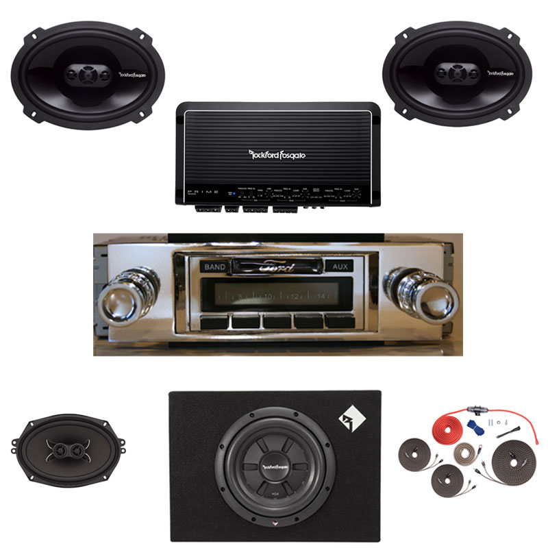 1960-1962 Ford Galaxie Rockford Fosgate Premium Stereo Kit