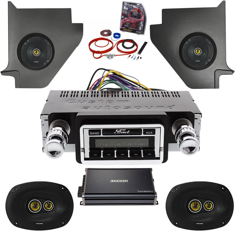 1964-1965 Ford Falcon Kicker Stereo Package