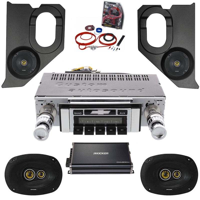 1964-1966 Chevy Truck Kicker Stereo Kit