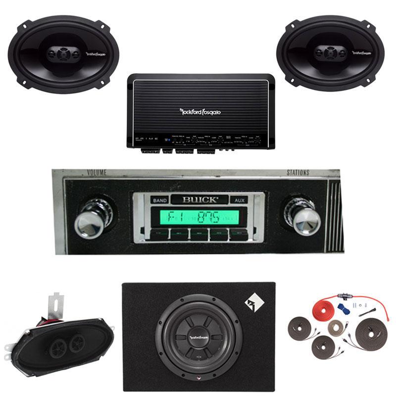 1964-65 BUICK SKYLARK/GS Rockford Fosgate Premium Stereo Kit