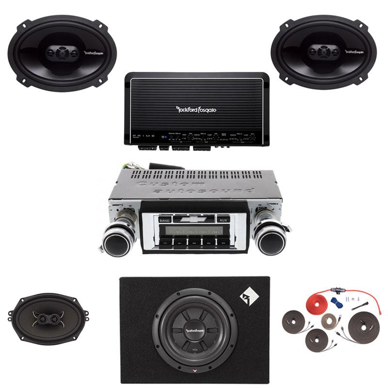 1965 Chevelle Rockford Fosgate Premium Stereo Kit