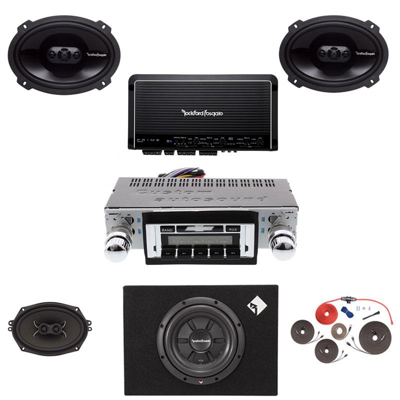 1966-1967 Chevelle Rockford Fosgate Premium Stereo Kit