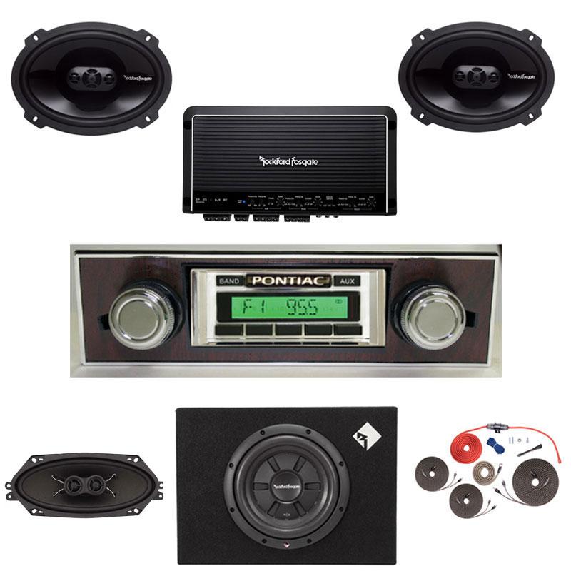 1967 Pontiac Firebird Radio Rockford Fosgate Premium Stereo Kit
