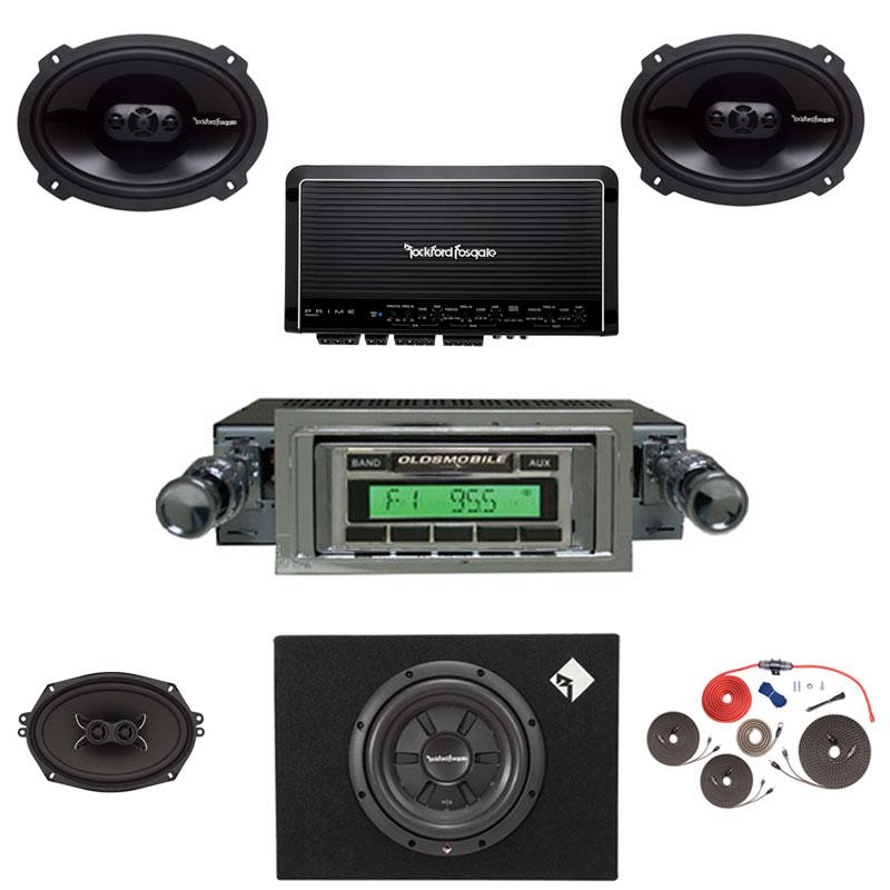 1968-1969 Cutlass Rockford Fosgate Premium Stereo Kit