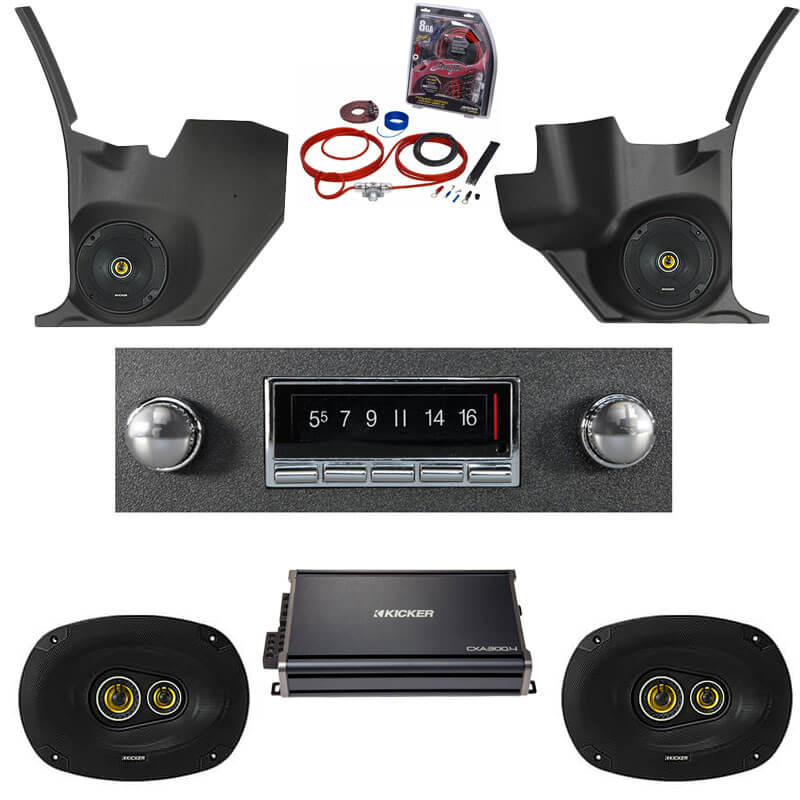 1968-1972 Buick Skylark Kicker Stereo Package