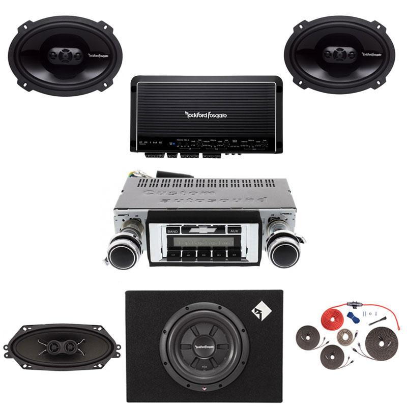 1968 Chevelle Rockford Fosgate Premium Stereo Kit