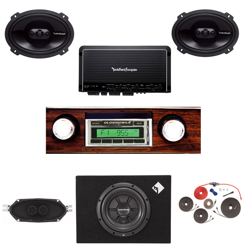 1970-1972 Cutlass Rockford Fosgate Premium Stereo Kit