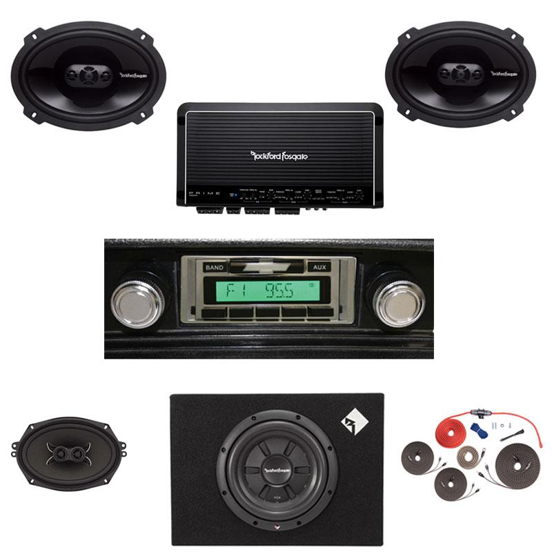 1973-1977 Chevelle Rockford Fosgate Premium Stereo Kit