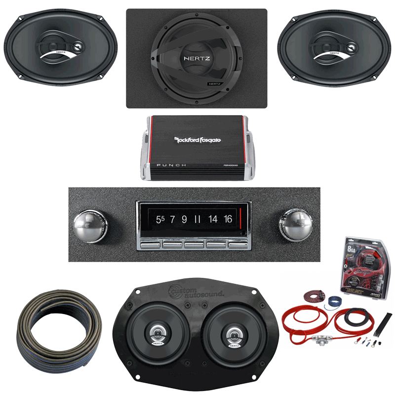 1967-1972 GMC Pickup Truck Hertz Stereo Kit