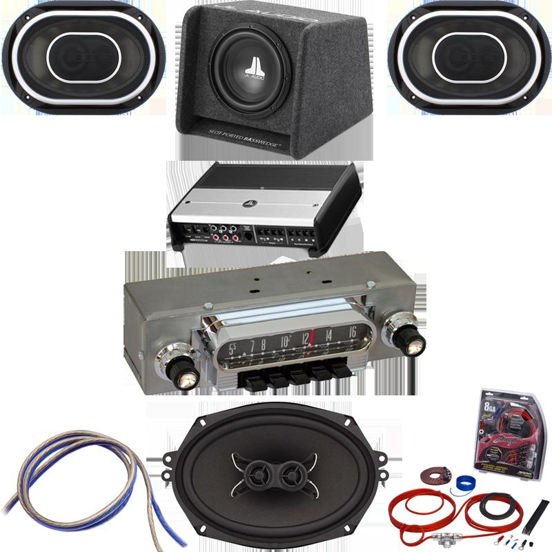 Jl Audio Ford Galaxie Premium Stereo Kit on Vw Beetle Continental Kit