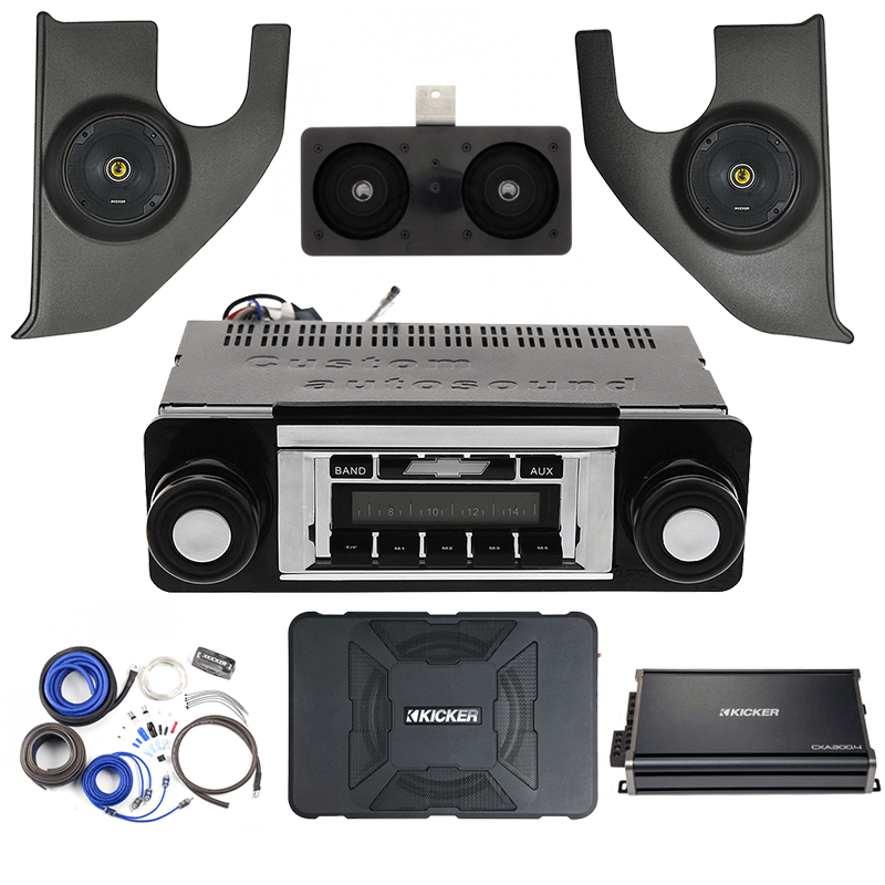 Kicker 1967-1972 Chevy Truck Premium Stereo Kit