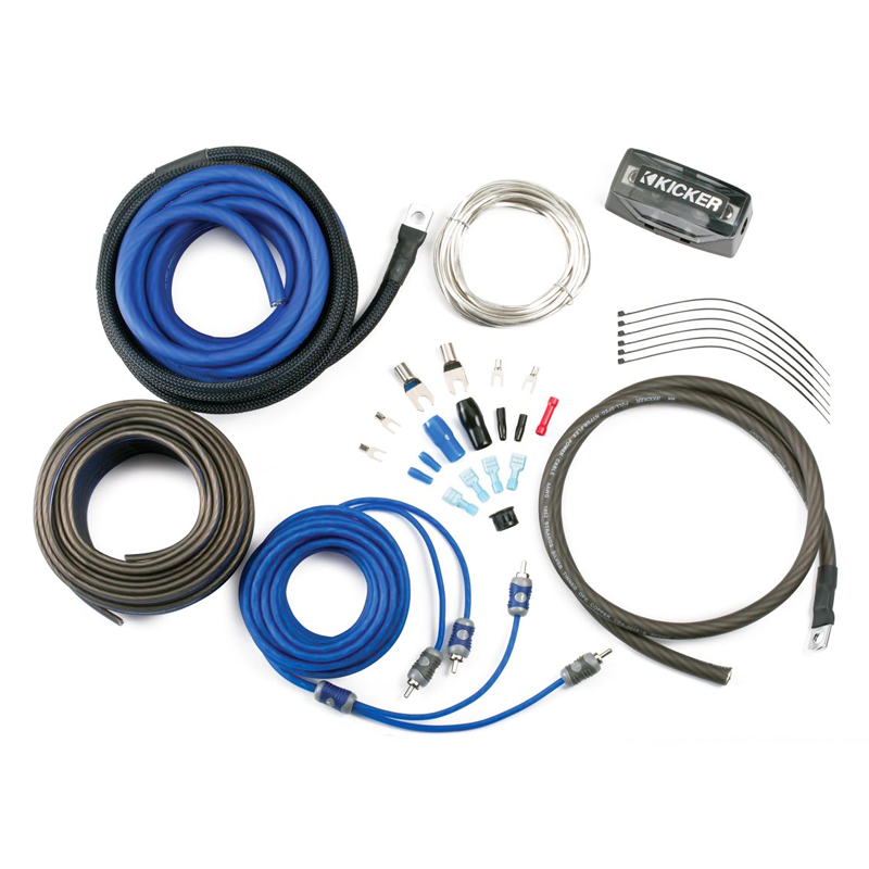 Kicker 8 Awg Amp Wiring Kit With Rca Cable  Ck8