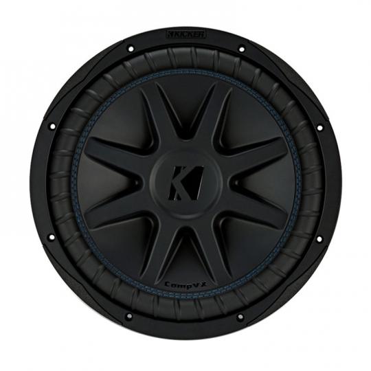 Kicker COMPVX 12 Inch Subwoofer Dual Voice Coil 4-Ohm 750W RMS: 44CVX124