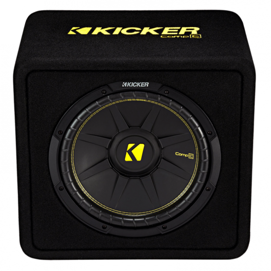 Kicker CompC 12 Inch Subwoofer in Vented Enclosure 4 Ohm