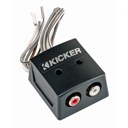 Kicker K-Series 2 Channel Speaker Wire to RCA Converter with LOC: KISLOC