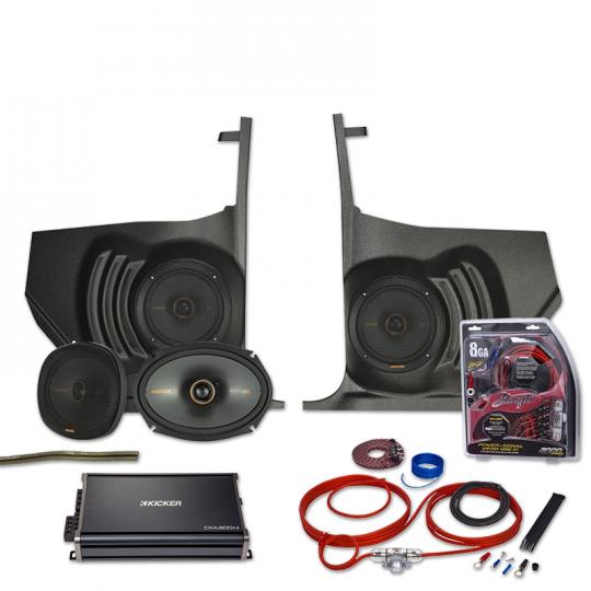 Custom Autosound Kickpanel Speakers for 1964-1966 w//o AC GTO LeMans Tempest