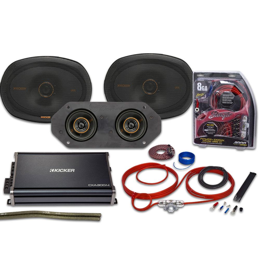 Kicker KS Series Speaker & Amp Kit 80 Watts: KSA-KSC1012