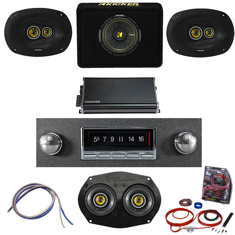 1964-1966 Mustang Kicker Stereo Kit