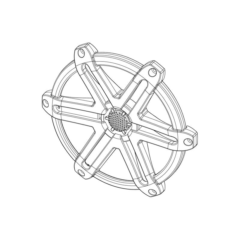 jl audio titanium sport grille  tweeter assembly for m650  m65
