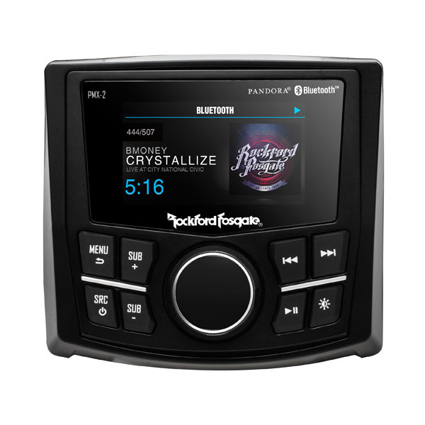 Rockford Fosgate Marine Hot Rod Stereo With Display And Bluetooth