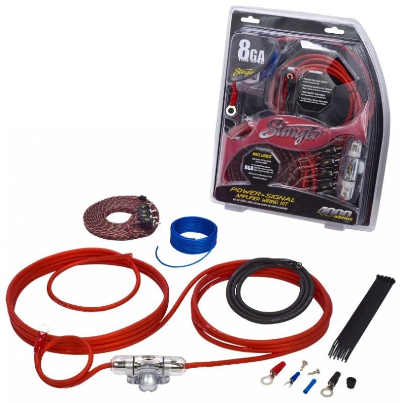 Stinger Series Gauge Amp Wiring Kit on Stereos For Harley Davidson Wiring