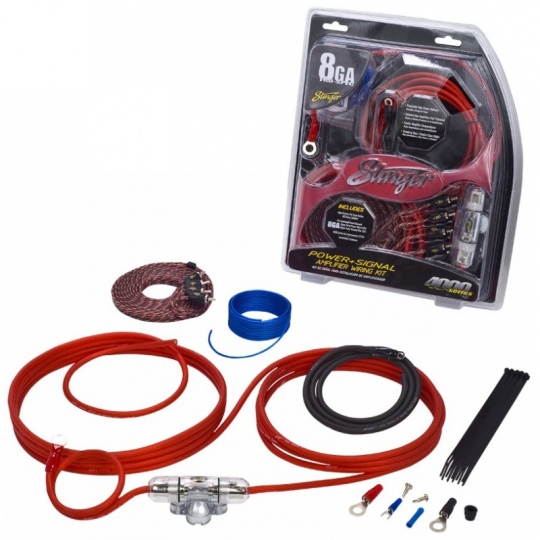 Stinger 4000 Series 8 AWG Amp Wiring Kit on